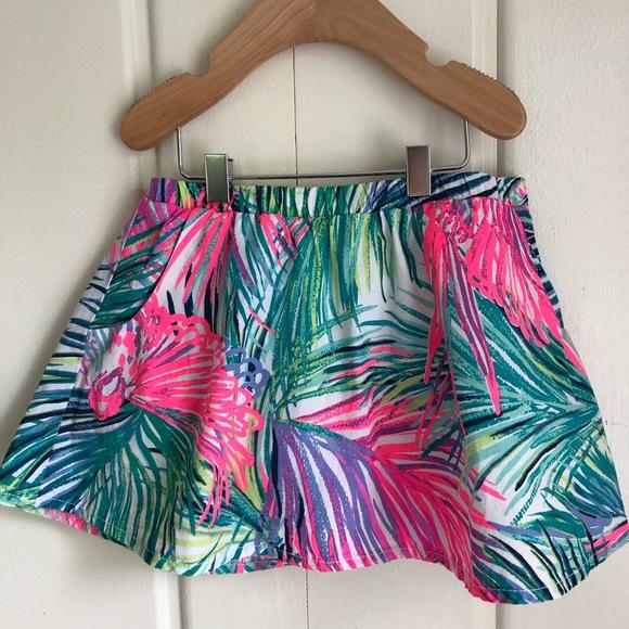 Lilly Pulitzer NWT Girls/' Sam Elastic Waist Skort in Multi Scarlett Macaw $44